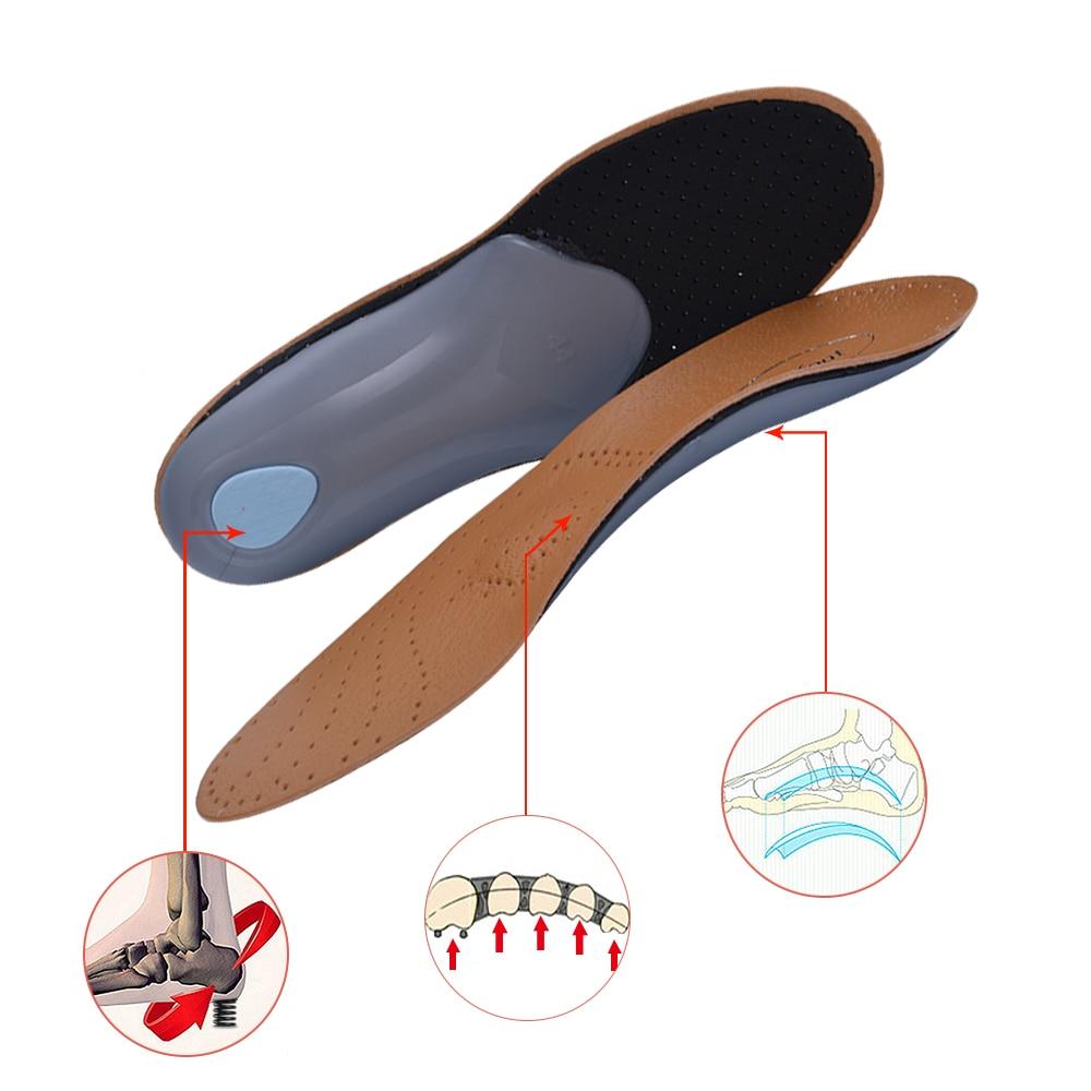 3D Premium Sunt Läder Ortotisk Inläggsula för Flatfoot High Arch - Sko tillbehör - Foto 2