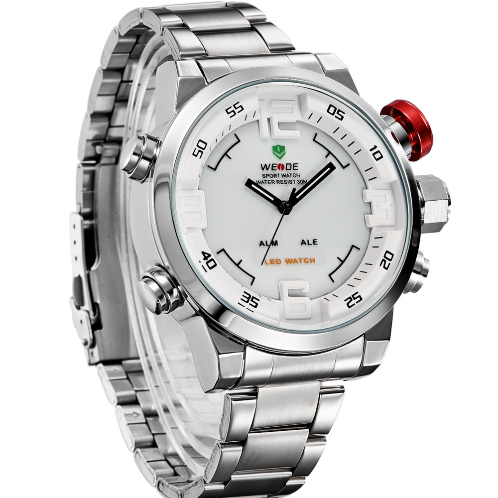 WEIDE Heren Sports Watch Dual Time Display Man Klok Quartz Analoog - Herenhorloges - Foto 2