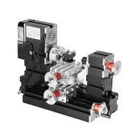 12000 rpm 60 W מיני מתכת מסתובב דגם מחרטת עץ מחרטת DIY ביצוע ערכת כלי מכונת כרסום