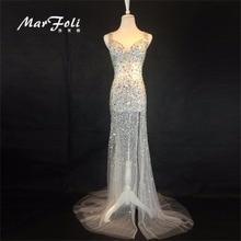 Сексуальное вечернее платье в пол с блестящими бусинами, вечернее платье, коктейльное платье, вечернее развлекательное платье на заказ