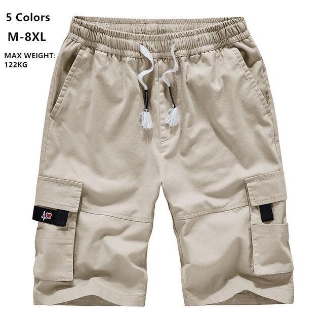 Mens מכנסיים קצרים מטען קיץ Camo קצר ספורט כותנה מכנסי טרנינג גברים הסוואה בתוספת גודל 6XL 7XL 8XL צבאי Corto Pantalon Hombre