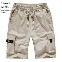 Carga Mens pantalones cortos de verano de camuflaje Corto de deporte de algodón pantalones de chándal de los hombres camuflaje Plus tamaño 6XL 7XL 8XL militar Pantalon Corto Hombre