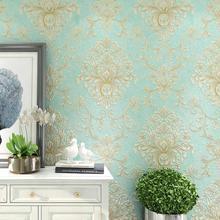 купить New European luxury big flowers non-woven wallpapers 3D living room bedroom study TV background Damascus wall paper home decor по цене 1596.45 рублей