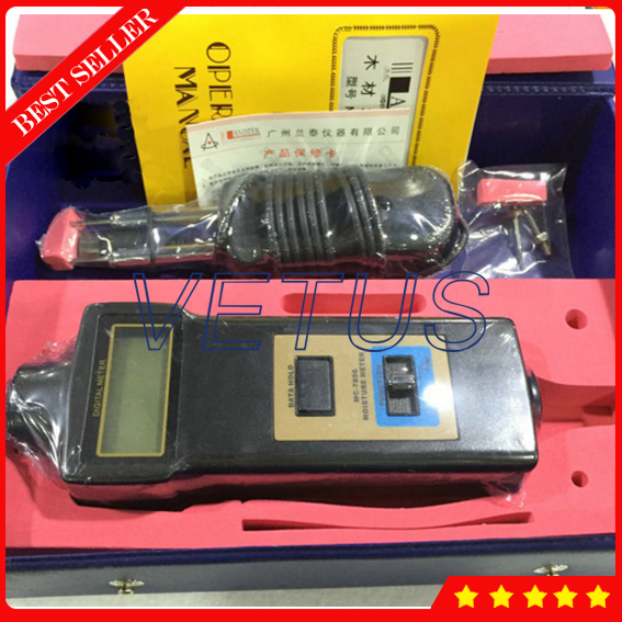 MC-7806 Digital Moisture analyzer price Pin Type Moisture Meter For Tobacco, Cotton Paper, Building, Soil mc 7806 wood moisture meter detector tester thermometer paper 50% wood to soil pin