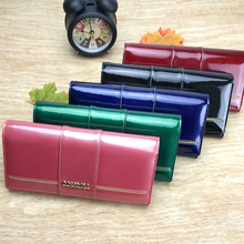 Luxury Shimmering Long Genuine Leather Women's Wallet