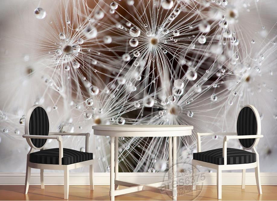 customize photo murals 3d living room wallpaper Aesthetic Dandelion dew 3d wall papers home decor living room home decoration 3d wall murals wallpaper 3d dandelion photo wall murals wallpaper mural 3d paintings