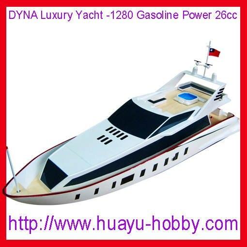 DYNA Luxury Yacht 1280 2CH 2 4G system 26cc Gas Power engine boat RTR by ems