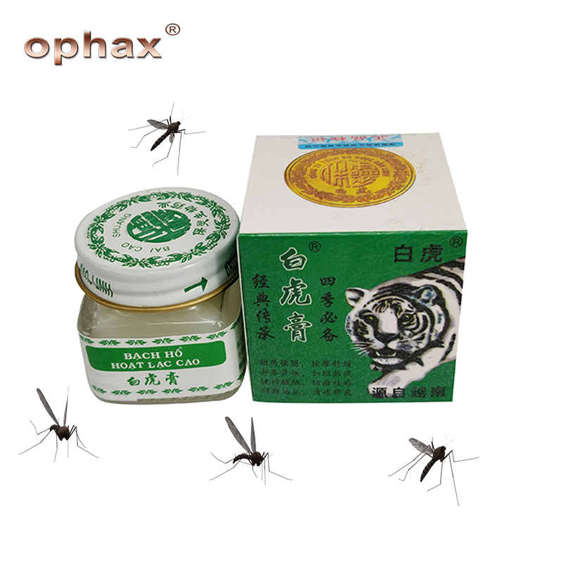 OPHAX 2Pcs/lot Vietnam White Tiger Balm ointment for anti mosquito Headache Toothache Stomachache Dizziness Essential Balm Oil image