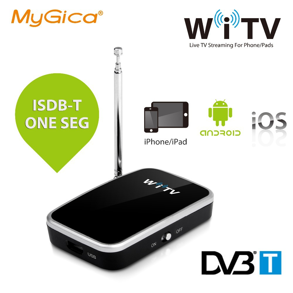 Isdb-t dvb-t Geniatech Mygica WiTV часы ТВ для iPad iPhone/Android устройства беспроводной ISDB T one seg WiFi ТВ-тюнер приемник