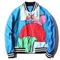 2017 Зима GD Bigbang Бейсбол Куртка Мужчины Женщины Hamfist Балахон Бренд Clothing Хип-Хоп Весте Homme Bomber Куртка M-XL
