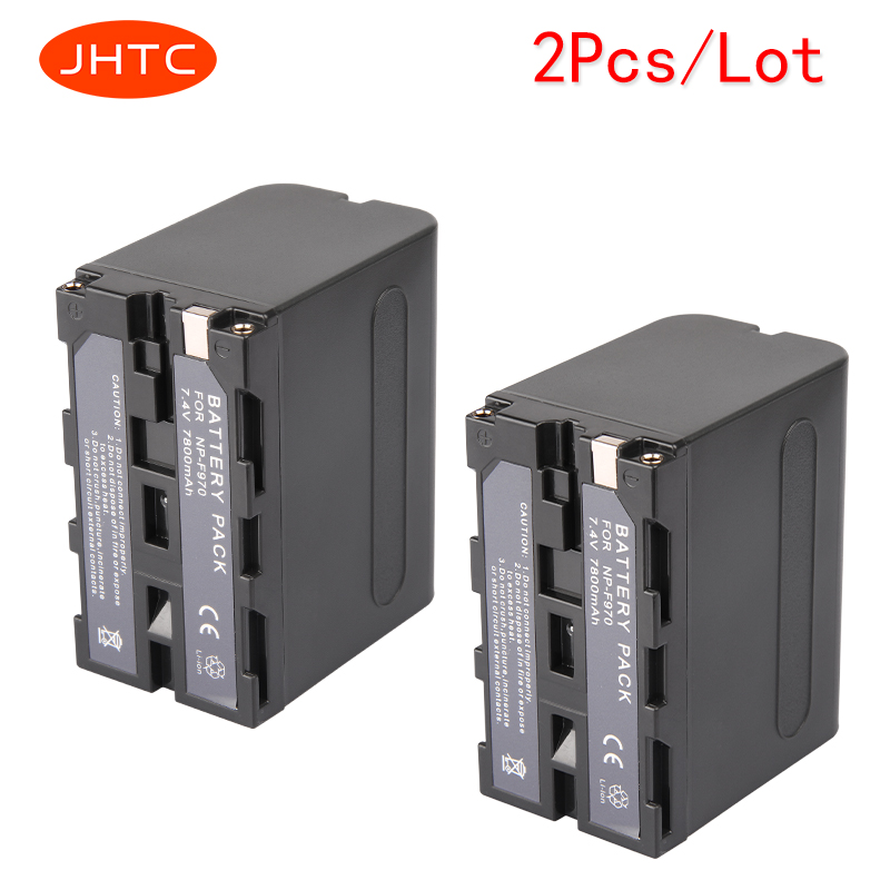 JHTC 2Pcs 7800mAh NP F970 NP F960 Digital Camera Battery for Sony CCD TRV58 CCD TR3300