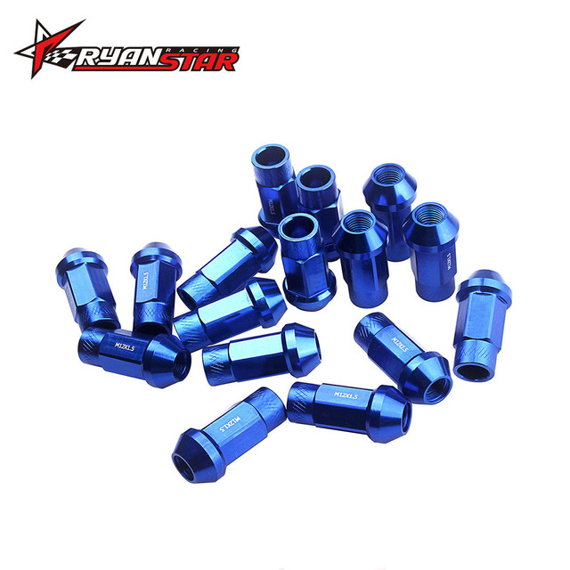 Ryanstar - 7075 Aluminum 50mm wheel Lug Nuts 12 x 1.25mm and 12 x 1.5mm kit for universal car