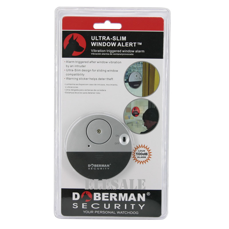 New SE-0106 Ulrta-Slim Door Window Magnetic Sensor Alarm With Warning Sticker For Home House Apartment Store Office Security