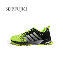 2019 New Fashion Mesh Air Cushion Running Shoes For Men High Quality Breathable Low-top Sneakers Non-slip Sport