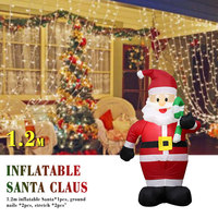 120cm Inflatable Santa Claus Outdoors Christmas Decorations for Home Yard Garden Decor 2019 Party Decor New Year Welcome Arches