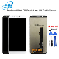 WEICEHNG For General mobile GM 8 GM8 LCD Display +Touch Screen Digitizer Assembly Replacement Accessories For GM 8 LCD+Free Tool
