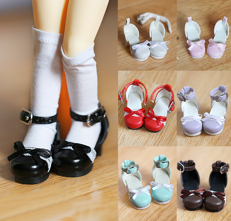 NEW Lace Bowknot Sandals White / Pink / brownness / blue 1/6 YOSD BJD Doll Shoes