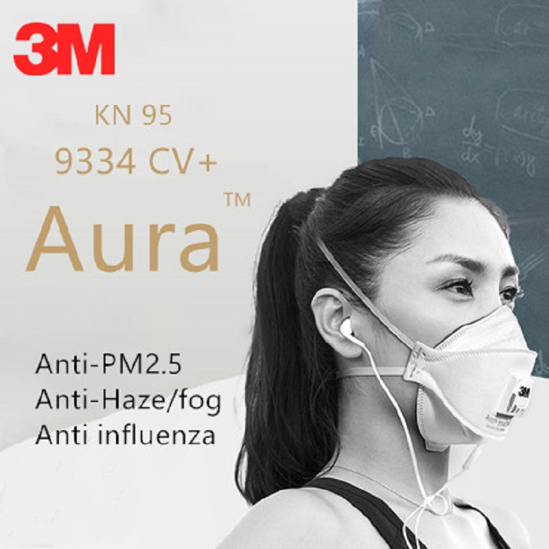 1pc 3M FFP3 9334 Dust Safety Mask Anti-PM2.5 Filter Oily Non-oily Particulates Aura Respirator Protective Mask Haze Weather