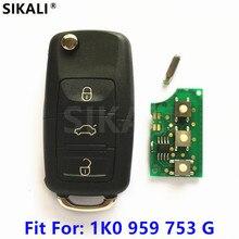 車のリモートキー434 mhzのため1K0959753G 5FA009263 10用シュコダオクタii 2004 2010