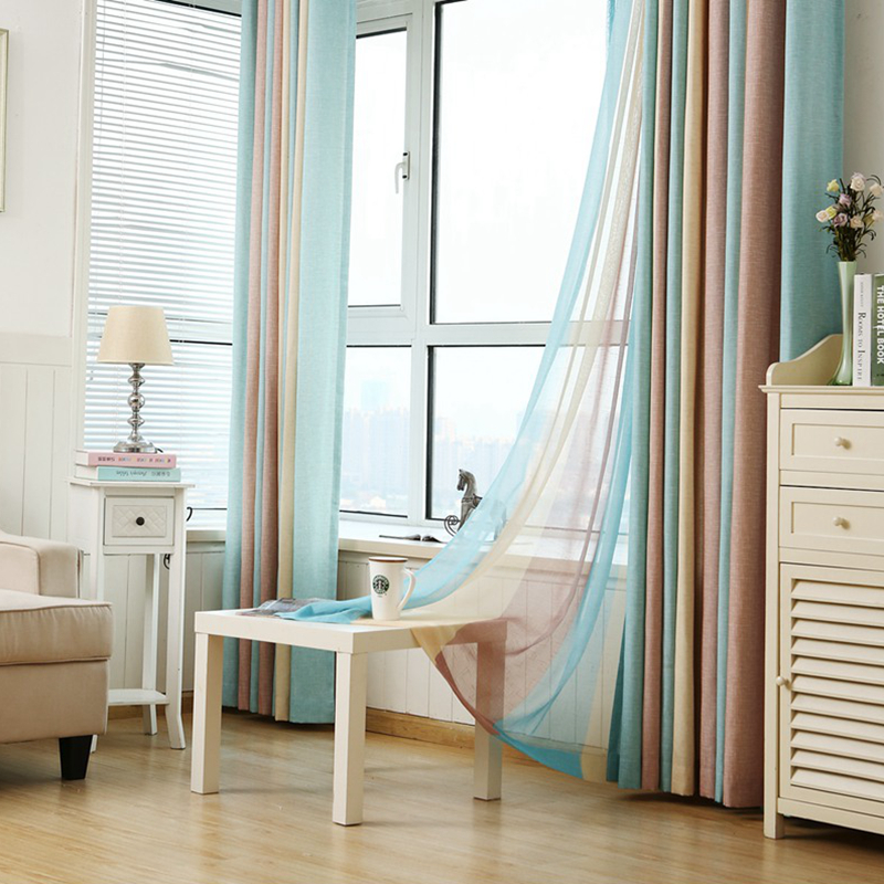 Superieur Striped Printed Window Curtains For The Bedroom Fancy Children Modern  Curtains For Living Room Faux Linen Curtains For Kids In Curtains From Home  U0026 Garden ...