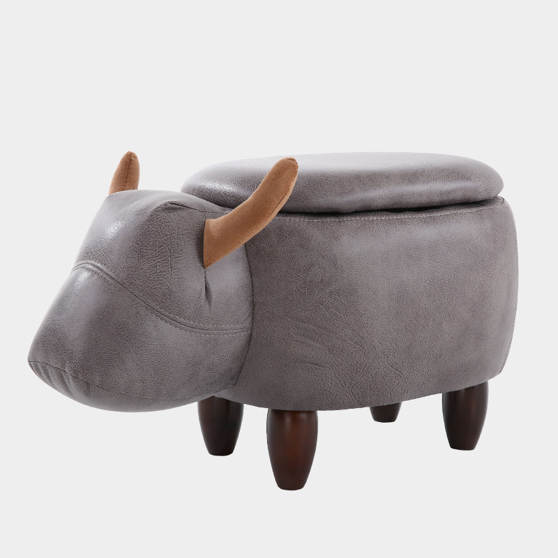 Multi-Functional Upholstered Ride-On Animal Ottoman Footrest Stool With Storage Animal-Like Features Creative for Kids and Adult hot selling g custom shop limited lp florentine jazz semi hollow body electric guitar desert burst in stock