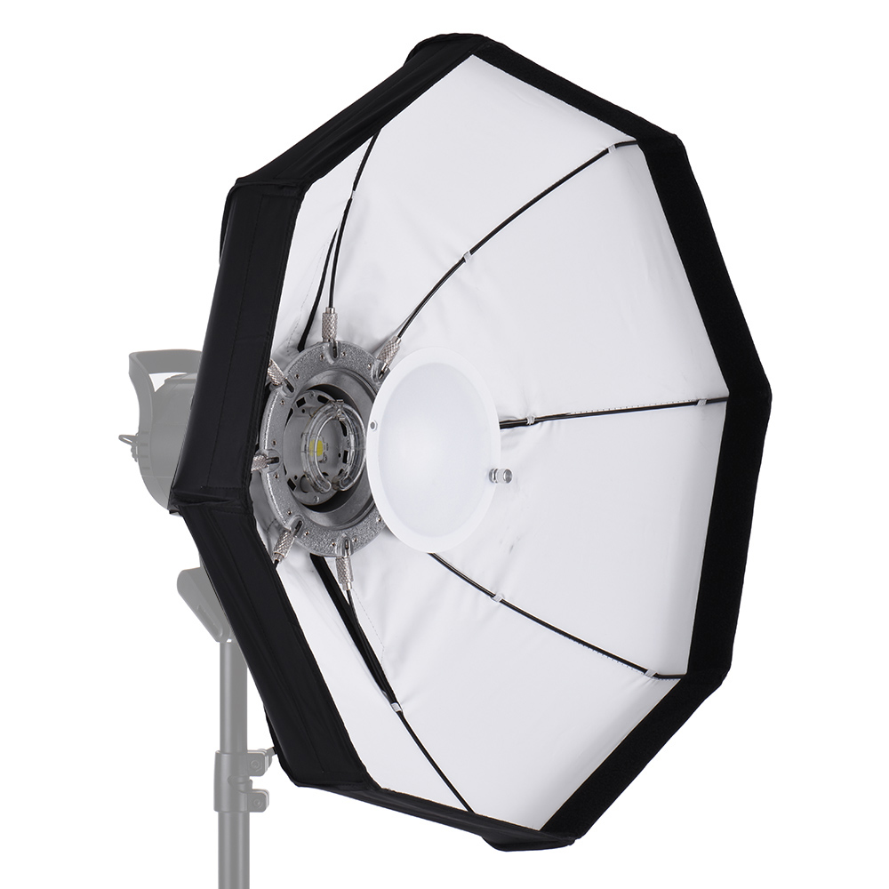 Andoer 8 Pole 60cm Professional White Foldable Beauty Dish Softbox high quality with Bowens Mount for