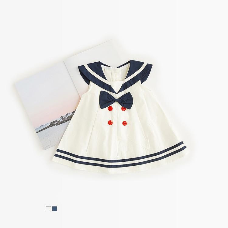 Celveroso nieuwe zomer baby meisje Jurk katoenen strik Baby - Kinderkleding - Foto 4