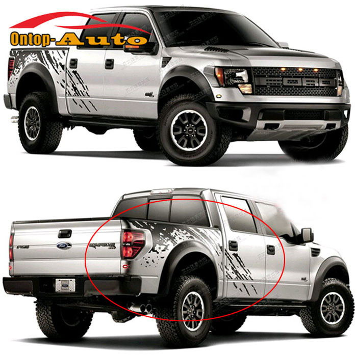 Auto Body Tail Trunk Side Graphics Vinyl St Decals SVT <font><b>Sticker</b></font> For <font><b>Ford</b></font> F150 <font><b>Raptor</b></font> 2009-2014 image