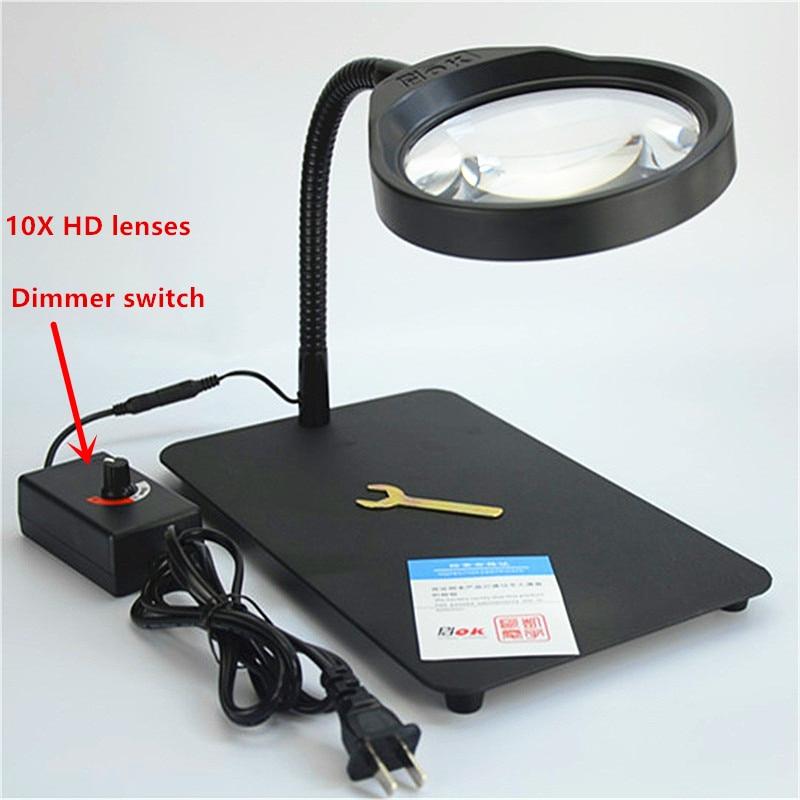 110v 220v high quality dimming magnifier lamp 10X Desktop ...