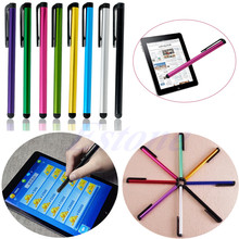 100 unids/bolsa Stylus Pen lápiz Para iPhone iPad Samsung Smartphone Tablet de Pantalla Táctil Universal de Metal + Plástico