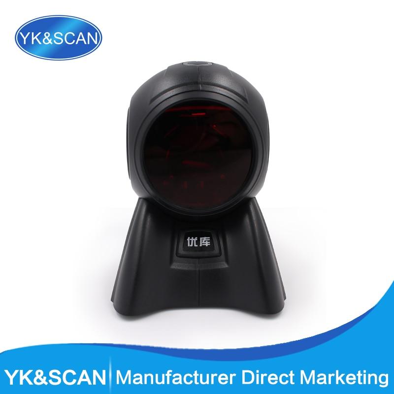 все цены на Free shipping USB/RS232 Omnidirectional  20 Lines Laser Barcode Scanner YK-8160 Omni Barcode Scanner онлайн
