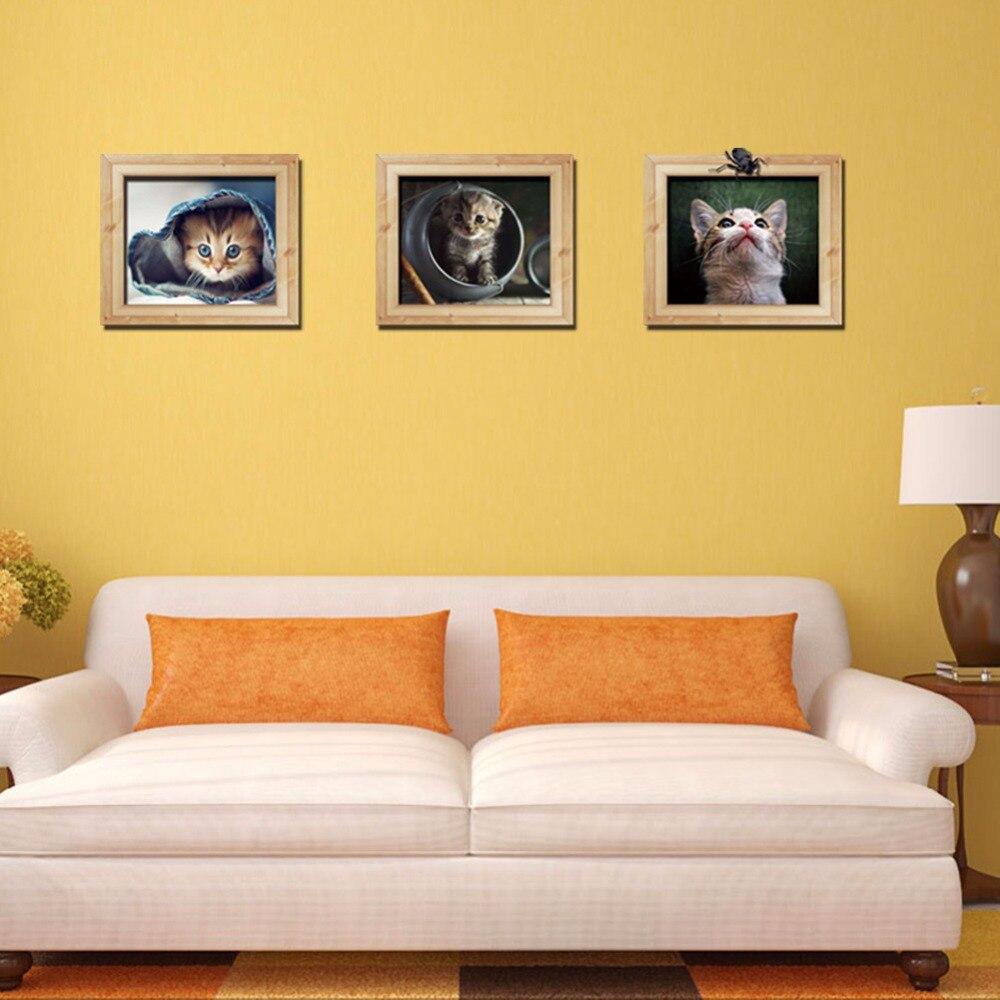 New Creative Fashion 3D False Photo Frame Cartoon Kitten Home ...