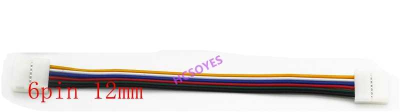 5 sztuk 2pin 3pin/4pin/5pin/6pin 8mm/10mm/12mm podwójne klip led przewód łączący dla 3528 WS2812 5050 RGB RGBW RGBWW taśmy LED