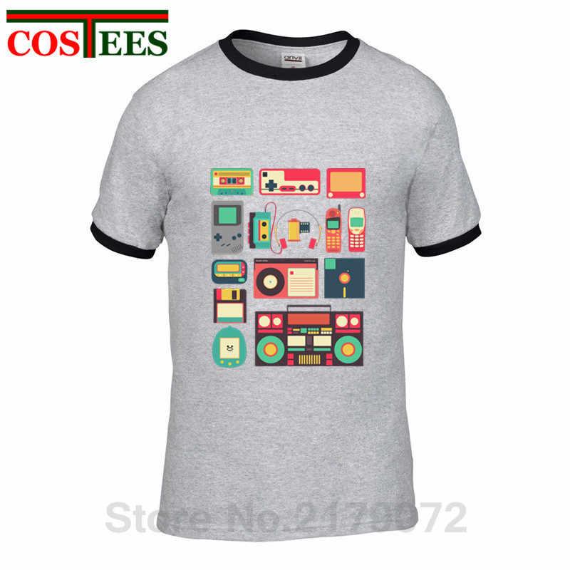 Camiseta de hombre de tecnología RETRO homme 2018 Vintage de manga corta Cool Music ropa barata de marca de lujo para hombre Camiseta tecno Camiseta