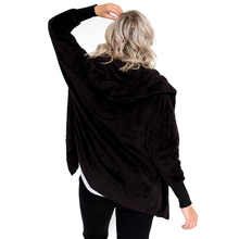 Warm Hooded Fleece Fluffy Faux Fur Cardigan Multi Colors