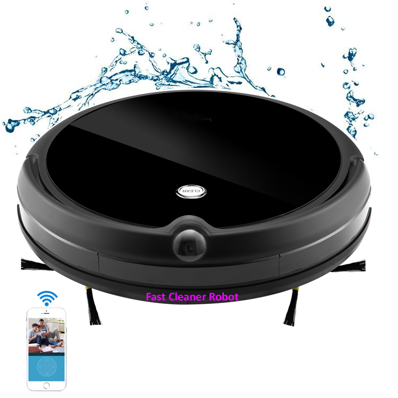 Newest Camera Guard Video Call Wet Dry Robotic Vacuum Cleaner With Map Navigation, WiFi App Control,Smart Memory,Water Tank liectroux x5s robotic vacuum cleaner wifi app control gyroscope navigation switchable water tank