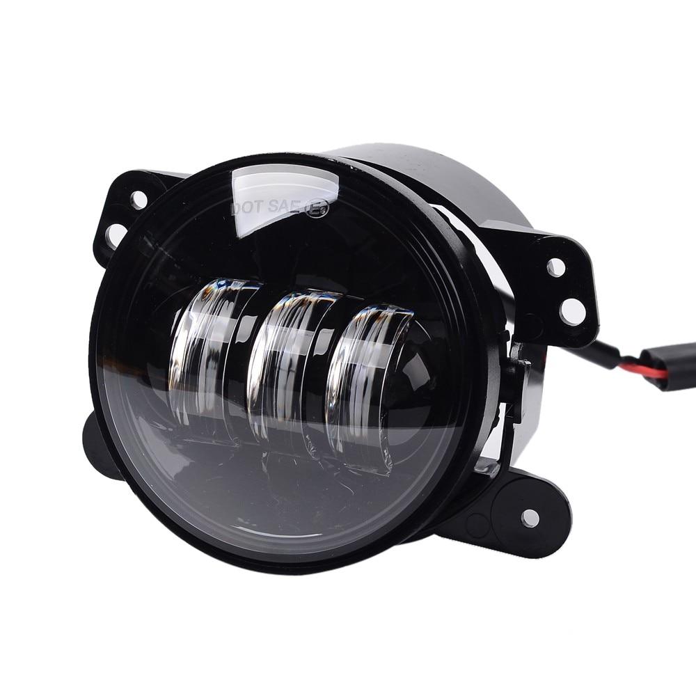 4 Inch Round LED Fog Light 2 Pcs 12V Car Lamps Auto DRL Lighting Led Headlamp 30W novsight h11 led car light 60w set 12000lm auto headlights bulb 12v 24v automobile headlamp fog light 6000k lighting
