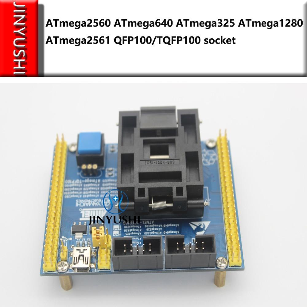 Clamshell ATmega2560 ATmega640 ATmega325 ATmega1280 ATmega2561 QFP100 TQFP100 socket IC programming test seat Test Socket
