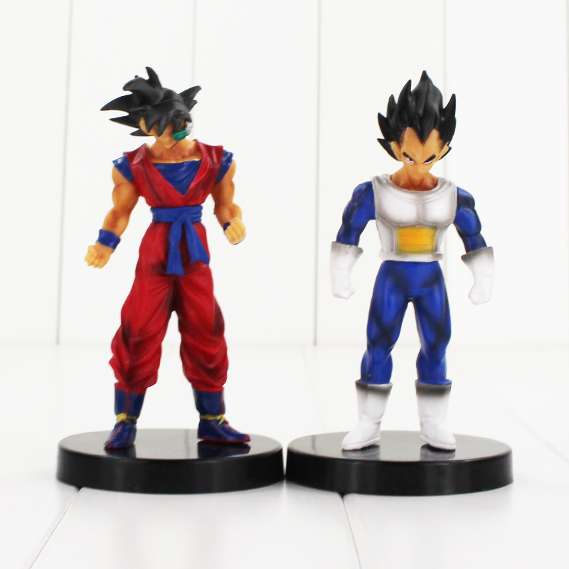 4pcs/set Dragon ball Son Gohan Vegeta Tien Shinhan Chiaotzu scale painted PVC figure toy Dragonball figura