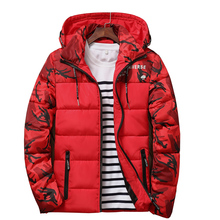 Men's Winter Jacket Warm Camouflage Jackets Men Padded Hooded Overcoat Casual Brand Thermal Down Parka Hooded Coat Christmas