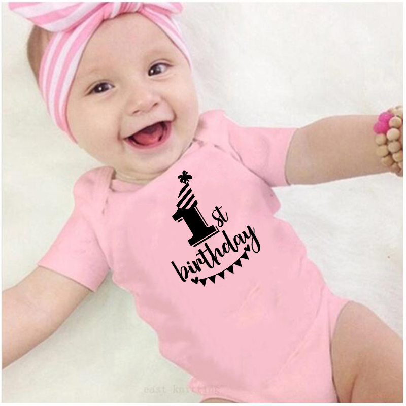 8 colors Newborn Baby girl Clothes Baby Rompers Jumpsuit playsuit First Birthday Outfit boy Romper short sleeve roupa de bebe
