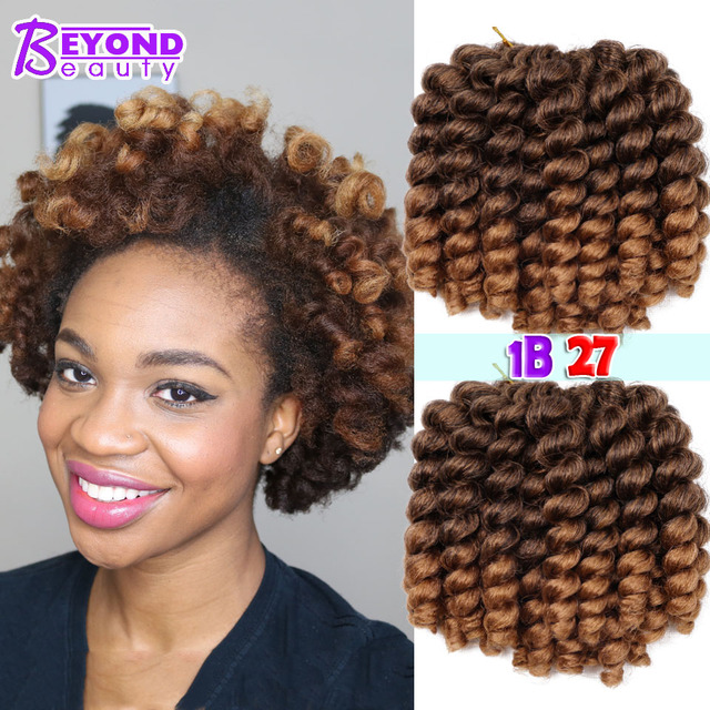 Jamaican Hairstyles Black Women: Jumpy Wand Curls Braids Bounce Jamaican Twist Afro Kinky
