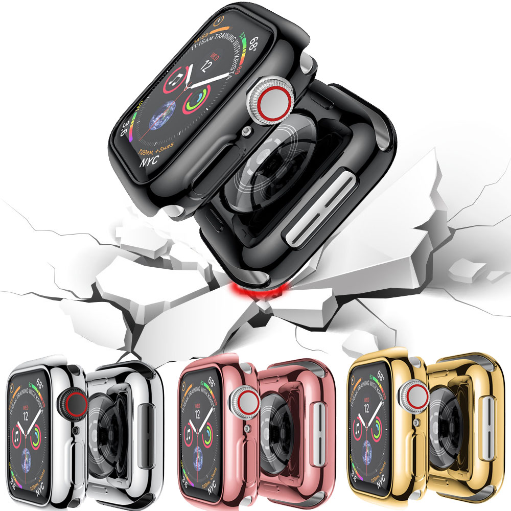 TPU Case Cover For Apple Watch Series 4 40mm Watch Transparent Silicone Shell Case Shockproof Protective Cover For IWatch 4