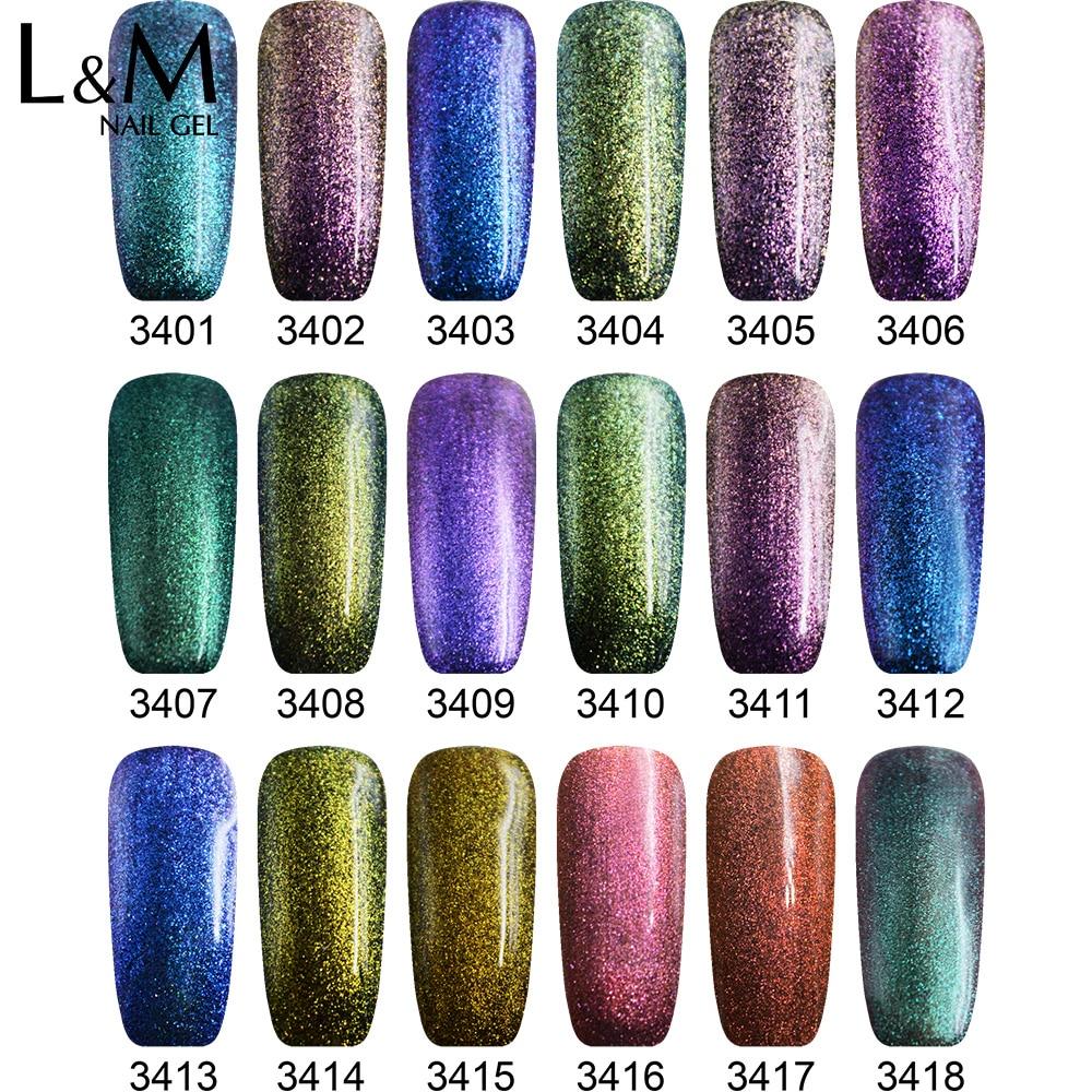 Esmalte para uñas IBDGEL Brand Chameleon (1 color negro + 9 colores - Arte de uñas - foto 2