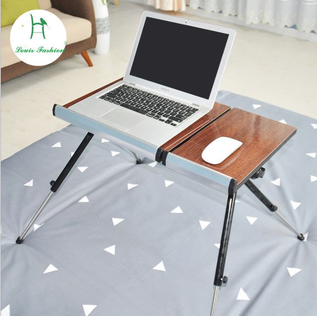 moving up and down bed notebook computer table folding lazy table