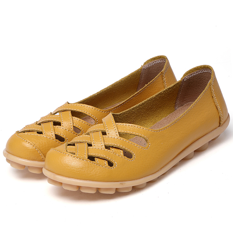 Genuine leather summer women flats shoes 2017 casual flat shoes women loafers shoes leather red flat women's shoes