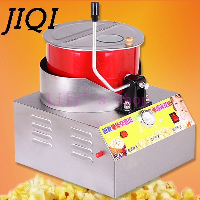 Electric home popcorn machine hand-cranked single pot gas popcorn maker commercial popcorn pot household Business EU US plug high quality commercial home hot selling domestic electric gas hot air popcorn maker popcorn machine