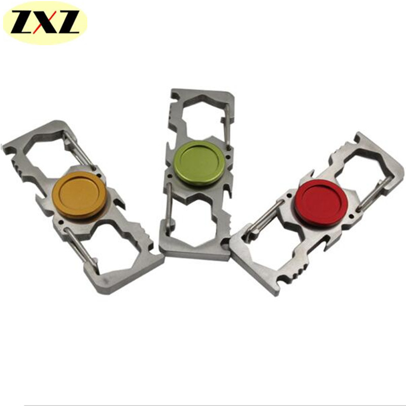7 5CM Multi function Latest model Aluminium Alloy EDC Two Spinner Fidget Toys Pattern Hand Spinner
