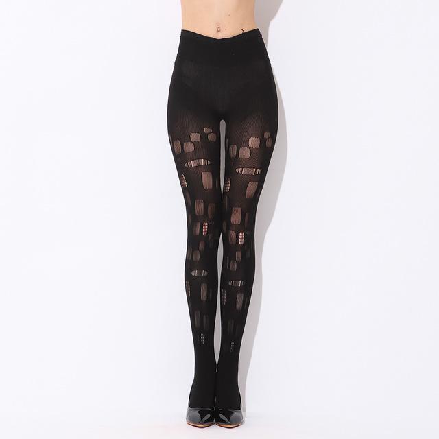 Meias pretas grossas primer sexy meias arrastão tentação Ms. WK9805 #