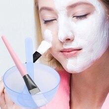 Face Mask Bowl Homemade Makeup Beauty DIY Facial  Brush Spoon Stick Tool Set New #H056#